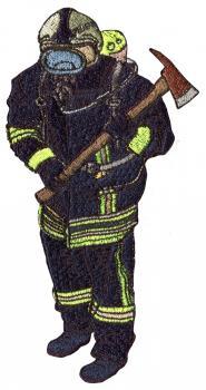 Rückenaufnäher große Applikation - 07511 - Gr.  ca. 15x30 cm Stick Emblem Feuerwehrmann