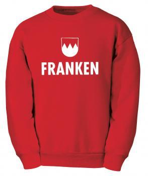 Sweatshirt Unisex mit Motivdruck - Franken - 09035 rot - Gr. S-2XL