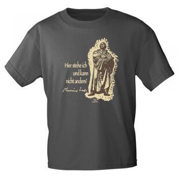 T-Shirt mit Print - Martin Luther - 09705 versch. Farben Gr. S-3XL