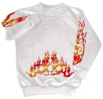 Sweatshirt mit Print - Feuer Flammen Fire - 10115 - versch. farben zur Wahl - Gr. S-XXL