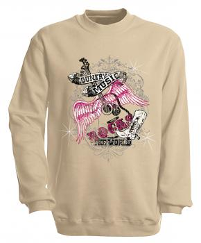Sweatshirt mit Print - Country Music - S10247 - versch. farben zur Wahl - Gr. S-XXl