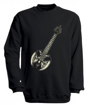 Sweatshirt mit Print - Guitar - S10252 - versch. farben zur Wahl - Gr.