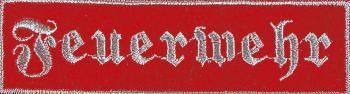 Rückenaufnäher Feuerwehr Gr. ca. 30cm x 9cm 08514 rot