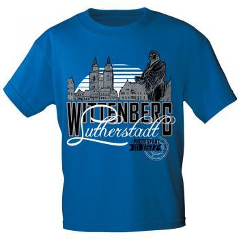 T-Shirt mit Print - Lutherstadt Wittenberg - 12133 royalblau - Gr. S-3XL