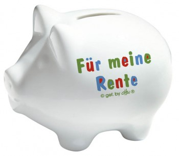 Keramik Sparschwein - Für meine Rente - 22204