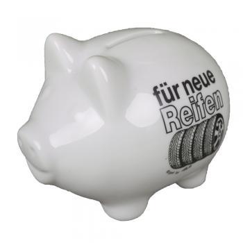Keramik Sparschwein - Für neue Reifen - 22227