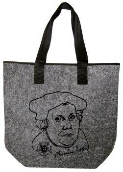 Filztasche Shopper mit Einstickung - MARTIN LUTHER - 26145 - Tasche Umhängetasche Shopper Bag