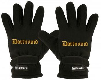 """(40385-56503) Fleece Handschuhe mit Einstickung """"DORTMUND"""""""