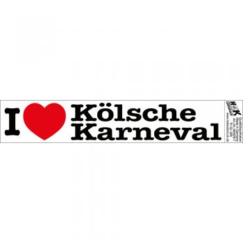 PVC-Aufkleber - I love Kölsche Karneval - Gr. ca. 18 x 3,5 cm - 301570/1