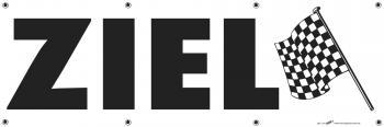 """Werbebanner Spannband mit Druck """"ZIEL"""" NEU Gr. ca. 300cm x 80cm (309969) Spannbänder Reklame Werbung"""