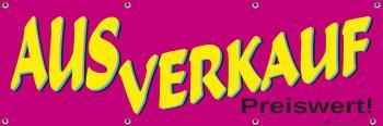 Banner Werbebanner - Ausverkauf - 3x1m - Spannband für Ihren Werbeauftritt / Bedruckt mit Ihrem Motiv - 309971