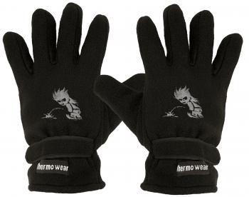 Handschuhe Fleece mit Einstickung Pinkelmännchen 31541 schwarz