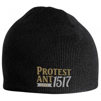 Beanie Mütze Martin Luther Protest Ant seit 1517 54614 schwarz