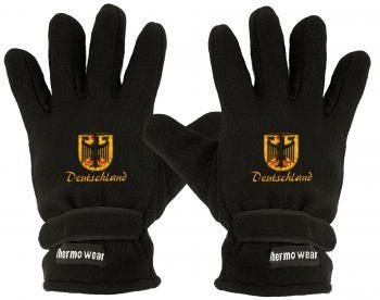 Fleece Handschuhe mit Einstickung - DEUTSCHLAND Wappen - 56426