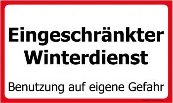Hinweisschild Winter - Eingeschränkter Winterdienst - 308759 - Gr. 50 x 30 cm