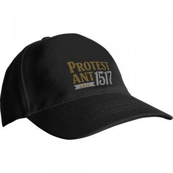Baseballcap mit Einstickung - Martin Luther Protest Ant 1517 - 69283 schwarz