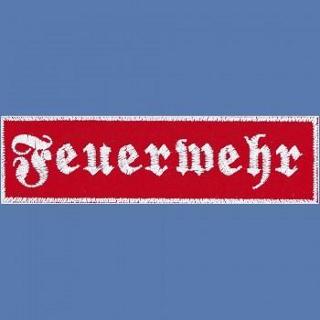 AUFNÄHER - Feuerwehr - 08514 - Gr. ca. 30x9 cm Patches Stick Applikation Klett- oder Bügel-Emblem