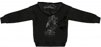 Kapuzenjacke mit Einstickung und Print – Springreiten Champion - 132027 - XS-5XL