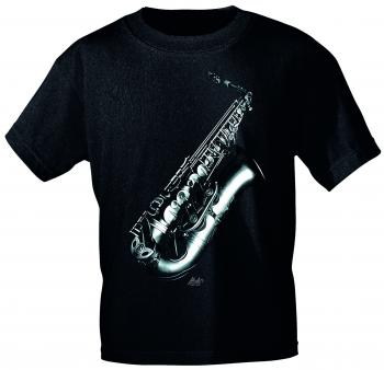 T-Shirt unisex mit Print - Altosax - von ROCK YOU MUSIC SHIRTS - 10746 schwarz - Gr. L