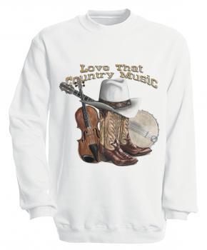Sweatshirt mit Print - Country Music - S10256 - versch. farben zur Wahl - Gr. S-XXL