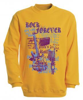 Sweatshirt mit Print - Rock forever - S10254 versch. farben zur Wahl - Gr. S-XXL