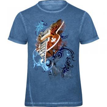 T-Shirt unisex mit Print - Grandmaster Rock - von ROCK YOU MUSIC SHIRTS - 12962 blau - Gr. S - XXL