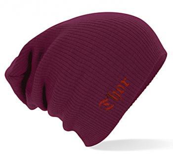 """(54407) Slouch- Beanie Mütze mit hochwertiger Einstickung """"Thor""""-  in 4 modischen Farben"""