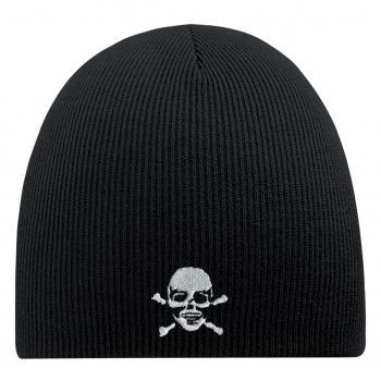 Beanie Mütze Totenkopf 54544 schwarz