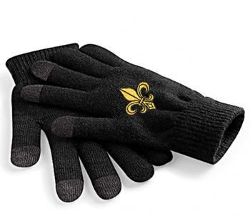 Touch-Handschuhe mit Einstickung - Lilie - 31652 schwarz Gr. S-XL