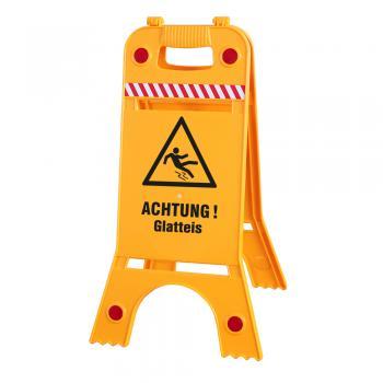 Warnaufsteller Aufsteller - Achtung! Glatteis - Warnschild Aufsteller - 308537/5 Gr. ca. 62cm x 24,5cm