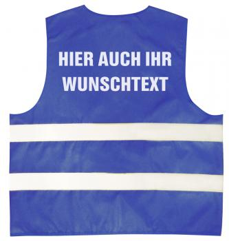 Warnweste mit Aufdruck - WUNSCHNAME - 11000 versch. Farben Gr. S-4XL