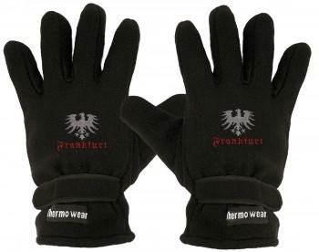 """(40385-5646) Fleece Handschuhe mit Einstickung """"FRANKFURT"""""""