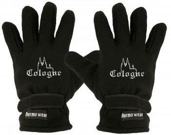 """(40385-56501) Fleece Handschuhe mit Einstickung """"COLOGNE"""""""