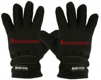 """(40385-56504) Fleece Handschuhe mit Einstickung """"KAISERSLAUTERN"""""""