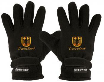 """(40385-56426) Fleece Handschuhe mit Einstickung """"DEUTSCHLAND"""" Handschuhe"""""""
