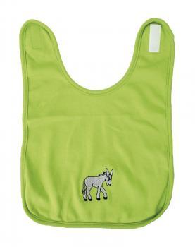 Baby Lätzchen mit Einstickung - Eselchen - 08458 - grün