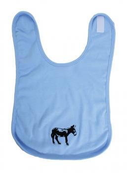Baby Lätzchen mit Einstickung - Eselchen - 08459 - hellblau