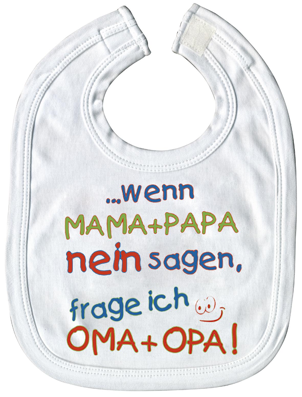 Babylätzchen Mit Print Wenn Mama Papa Nein Sagen