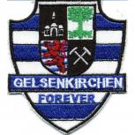 Aufnäher Patches Applikation Wappen - Gelsenkirchen forever - 00564 - Gr.  ca. 8 x 9 cm