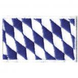 AUFNÄHER - BAYERN-Fahne - Gr. ca. 5,5x3,5cm (00842) Stick Patches Applikation Wappen Emblem