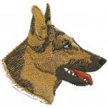 Aufnäher Applikation - Schäferhund - 01723 - Gr. ca.6 cm x 6cm