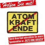 Aufnäher Patches Applikation - Atomkraft Erde - 01787 - Gr. ca. 8 cm