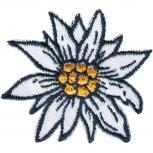 Aufnäher - Edelweißblüte Blume - 01834 - Gr. ca. 5,5cm x 5cm