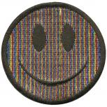 Aufnäher - Smiley bunt - 01991 - Gr. ca. 6cm - Patches Stick Applikation