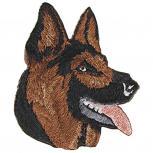 Aufnäher Applikation - Schäferhund - 02117 - Gr. ca.4 x 2,5 cm
