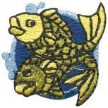 Signet Aufnäher - Sternzeichen - Fisch - 02121 - Gr. ca.  3 x 3 cm