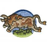 Signet Aufnäher - Sternzeichen - Stier - 02122 - Gr. ca.  3 x 3 cm