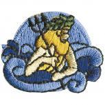 Signet Aufnäher - Sternzeichen - Wassermann - 02123 - Gr. ca.  3 x 3 cm