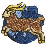 Signet Aufnäher - Sternzeichen - Steinbock - 02126 - Gr. ca.  3 x 3 cm