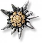 Anstecknadel - Metall - Pin - Edelweißblüte - 02663